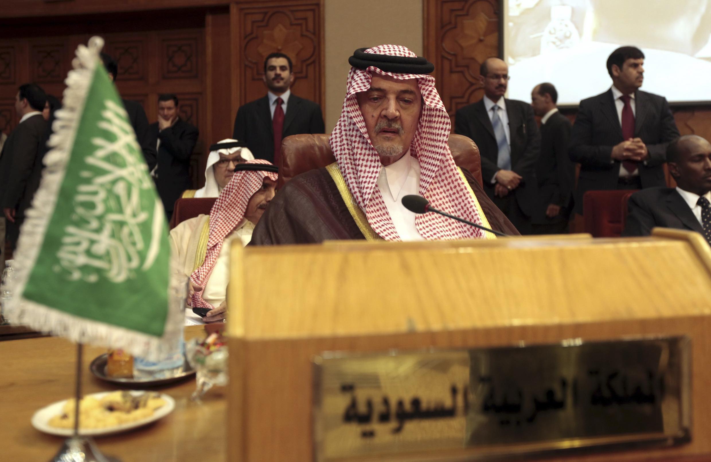 شاهزاده سعودالفیصل، وزیر خارجه عربستان سعودی در کنفرانس وزرای خارجه اتحادیه عرب در قاهره