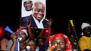 'Yan adawar Ghana na murnar lashe zaben kasar