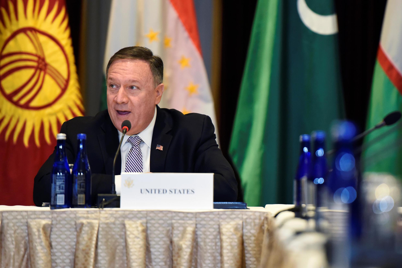 Ngoại trưởng Mỹ Mike Pompeo phát biểu trong cuộc gặp các đồng nhiệm các quốc gia Trung Á, bên lề Đại Hội Đồng LHQ, New York, ngày 22/09/2019
