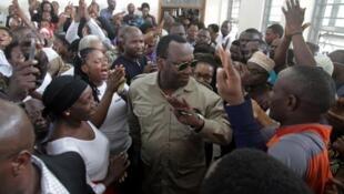 Freeman Mbowe (ici en mars 2020) fait partie des figures de l'opposition arrêtées ce lundi 2 novembre en Tanzanie.