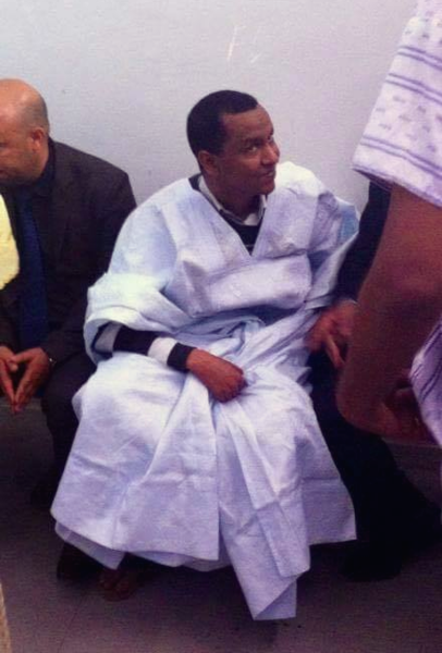 Cheikh Ould Mohamed Ould Mkheitir during his appearance in the Appeals Court in 2016