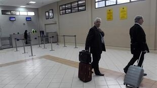 Rabat airport in Morocco on Tuesday