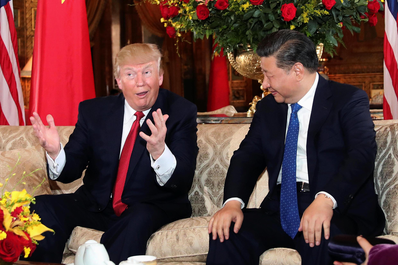 美國總統特朗普與中國主席習近平首次會談  2017年4月6日佛羅里達州棕櫚灘海湖莊園