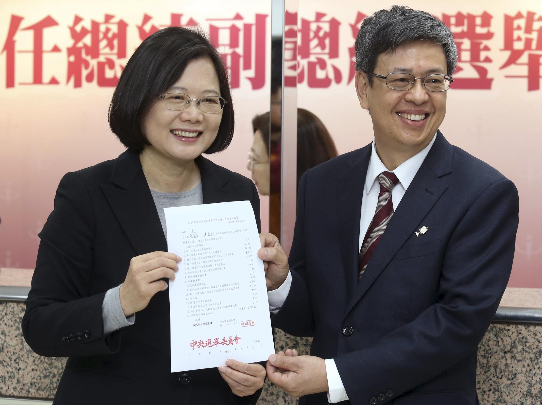 Lãnh đạo đảng Dân Tiến và ứng cử viên Tổng thống Đài Loan Thái Anh Văn.