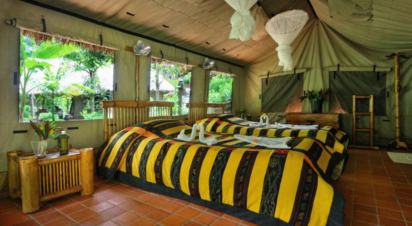 Khu nghỉ mát Kamu Lodge ở làng Nuei Hay, Lào.