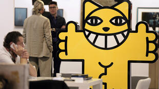 """Скульптурная композиция """"Толстый кот"""", которую художник M.Chat представлял на фестивале """"ST-ART"""" в Страсбурге в 2014 году"""