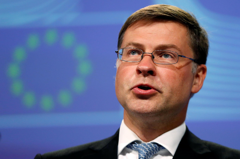 O vice-presidente da Comissão Europeia encarregado do euro, Valdis Dombrovskis.