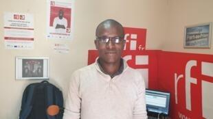 Ricarson Dorcé au studio de RFI à Port-au-Prince.