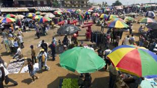 Le marché Mont Bouet, à Libreville.