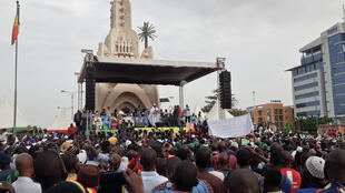 Rassemblement du Mouvement du 5-Juin au monument de l'Indépendance de Bamako, le 4 juin 2021