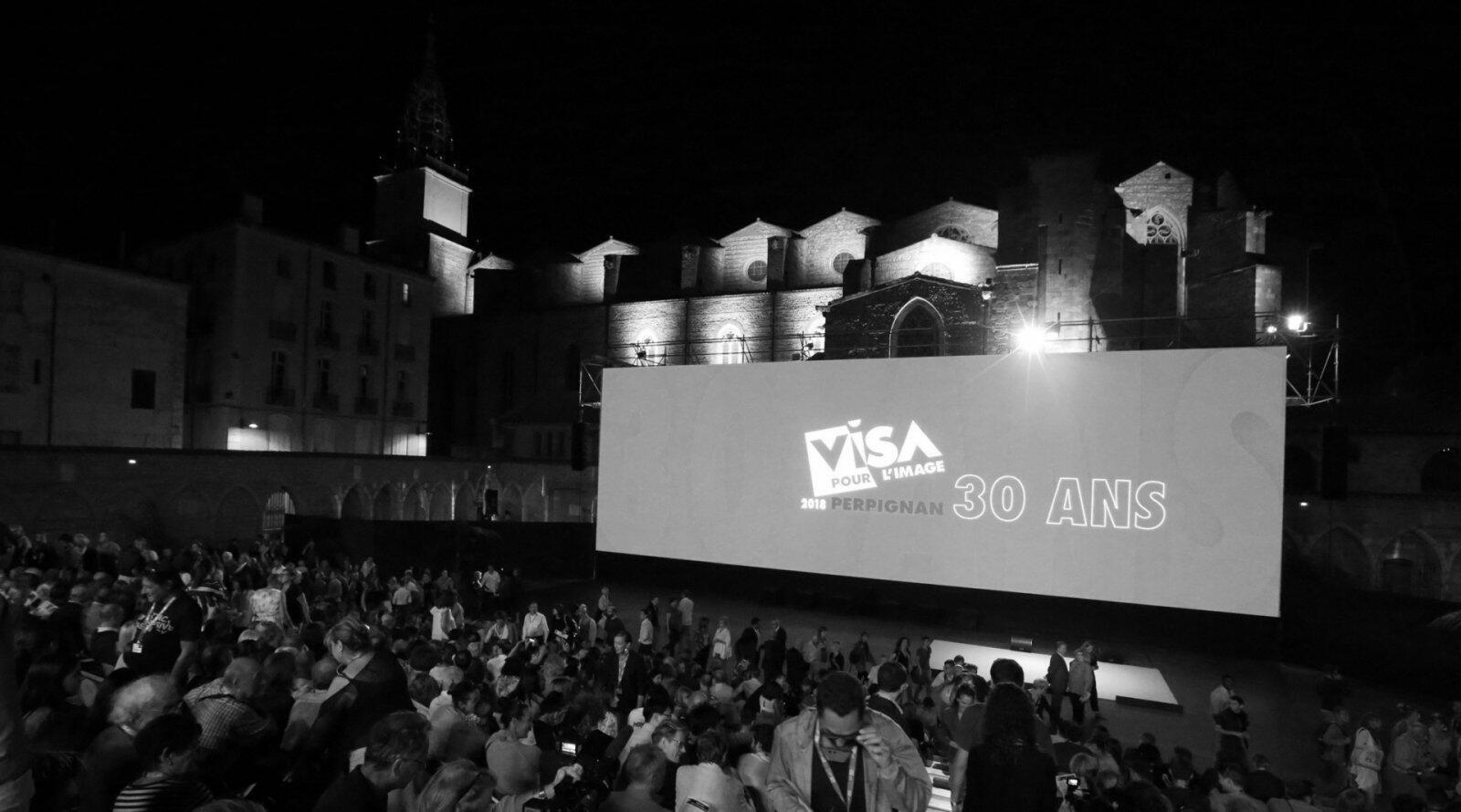 Le Campo Santo, lieu des soirées du festival international de photojournalisme Visa pour l'image.