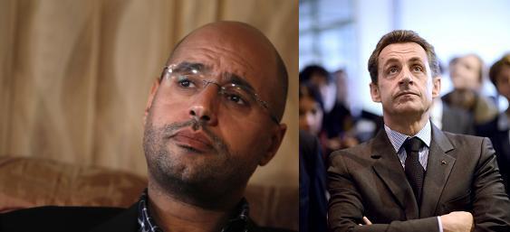 Сейф аль-Ислам Каддафи и Николя Саркози