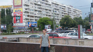 Centre ville de Chisinau, capitale de la Moldavie.