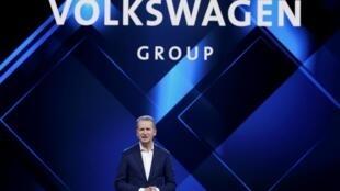 德国大众汽车CEO赫伯特·迪斯(Herbert Diess)资料图片
