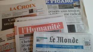 Primeiras páginas dos jornais franceses de 07 de março de 2019