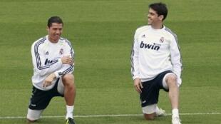 Treino do Real Madrid, Cristiano Ronaldo e Kaká