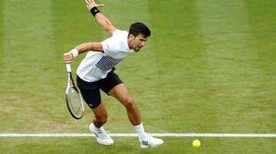 Former world number one Novak Djokovic turned on the style to beat Donald Young 6-2 7-6.