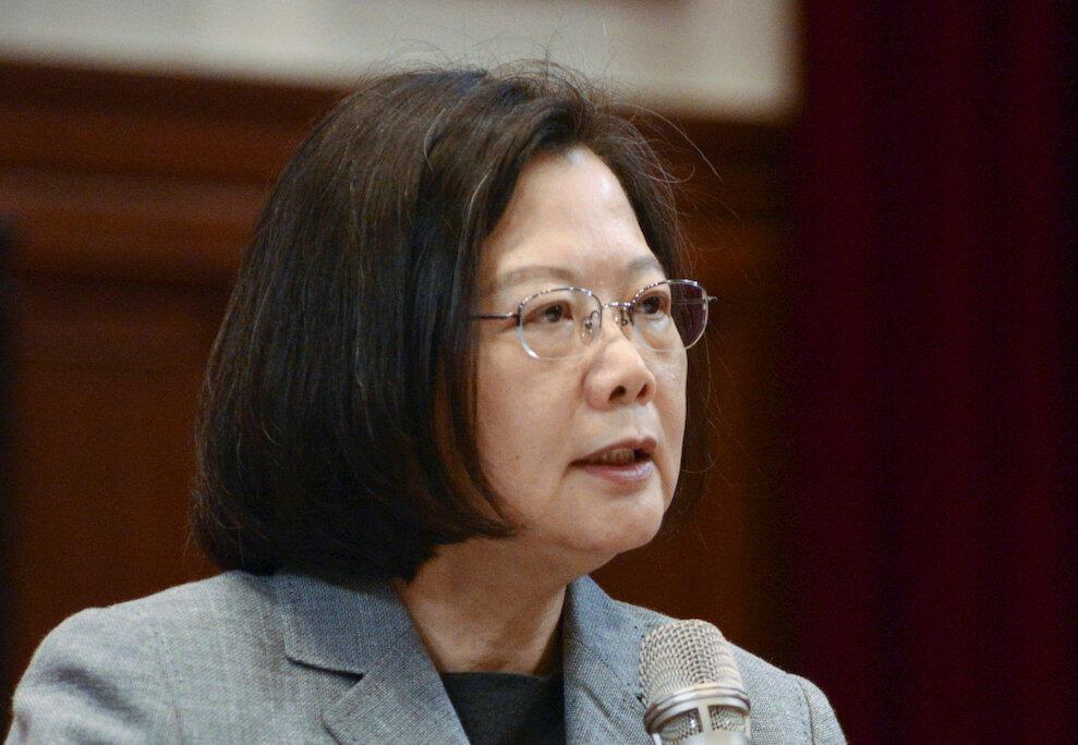 Tổng thống Đài Loan Thái Anh Văn họp báo tại Đài Bắc (Đài Loan), ngày 05/01/2019.