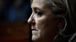 National Rally leader Marine Le Pen.