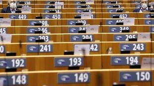 Une session du Parlement européen à Bruxelles en Belgique, le 7 octobre 2020.