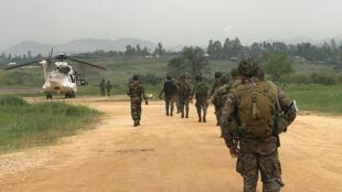 Bunia, Province de l'Ituri, RD Congo: les soldats de la Monusco, mars 2014. (Illustration)