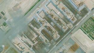 Các công trình xây dựng của Trung Quốc trên Đá Chữ Thập, Trường Sa, Biển Đông, nơi đang có tranh chấp với nhiều bên. (Ảnh vệ tinh do CSIS công bố ngày 6/06/2017