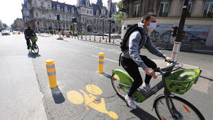 The city of Paris plans to create 50 kilometres of new temporary bicycle lanes as the French capital emerges from coronavirus confinement.