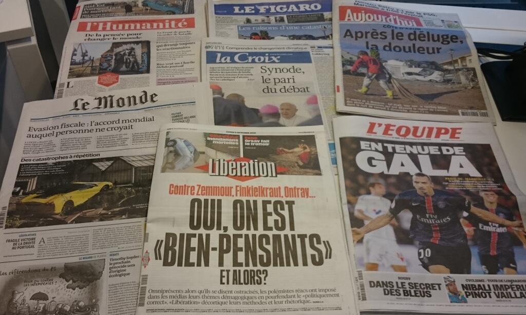 Diários franceses  05/10/2015