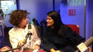 Emmanuelle Bastide et son invitée Yasmine Ajami.