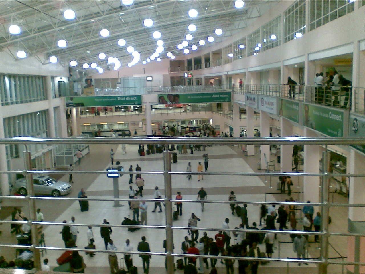 Tashar jirgin sama ta Murtala Muhammad a Lagos.