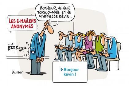 Caricatura de Denis Boutant sobre los adictos digitales.