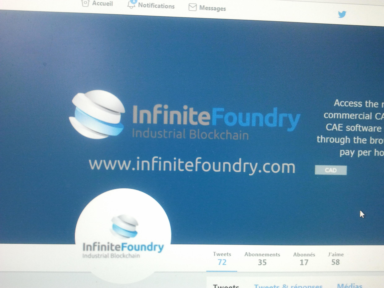 Logo da startup portuguesa, Infinite Foundry, que esteve presente no CES de electrónica de Las Vegas