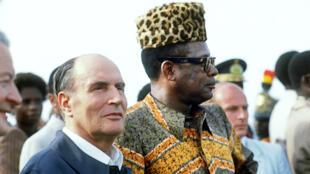 Mobutu Sese Seko rais wa zamani wa DRC hapa ilikuwa tarehe 9 Desemba 1984 akiwa na rais wa Ufaransa François Mitterrand.