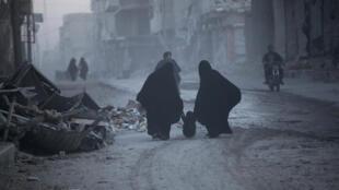 Yankin arewacin garin al-Baab na Syria, da yaki ya ruguza.