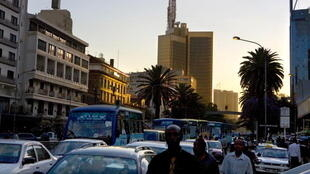Dans le centre de Nairobi, au Kenya.