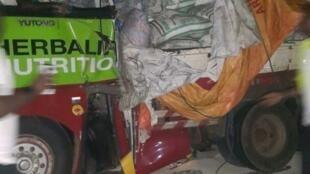 Basi lililoharibika la klabu ya Asante Kotoko nchini Ghana