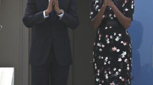 Tổng thống Mỹ, Obama và phu nhân chia tay Ấn Độ. Ảnh ngày 27/01/2015