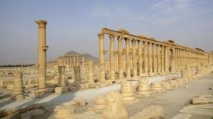 L'antique cité de Palmyre, après la destruction d'un second temple par le groupe État islamique.