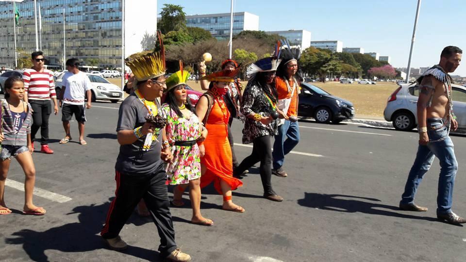 Movimento Ocupa Funai, em Brasília
