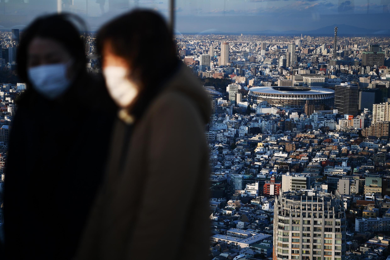 Sân vận động Tokyo, nơi sẽ diễn ra lễ khai mạc Olympic Tokyo 2020 nhìn từ trên cao ngày  8/02/2020.