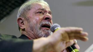 Lula rompió en llanto al defenderse de corrupción durante una rueda de prensa, este 15 de septiembre de 2016.