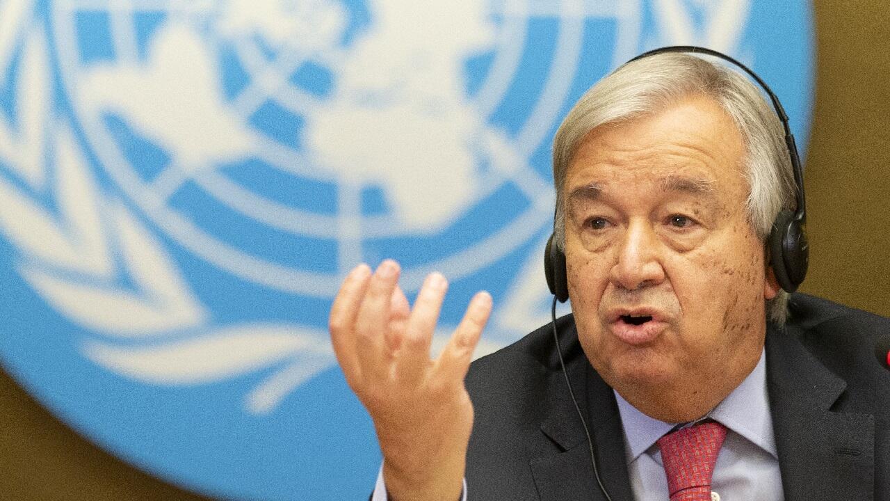 PHOTO Antonio Guterres - 13 septembre 2021