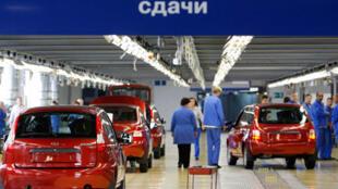 Cơ sở của hãng Avtovaz, tại à Togliatti (Nga), 25/09/2011.