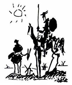 """""""El Quijote"""" pintado por Pablo Picasso."""