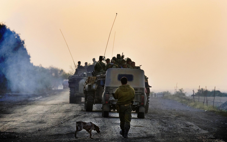Российские войска покидают территорию Грузии. 22/08/2008 г.