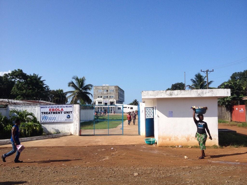 Island clinic, la « Clinique de l'île », un centre de traitement pour les malades d'Ebola contrôlé par le gouvernement libérien à Monrovia.