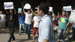 Một cuộc biểu tình tại Hà Nội ngày 05/08/2012 phản đối Trung Quốc xâm lấn Biển Đông.
