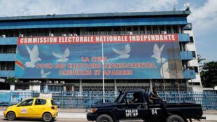 Le siège de la Céni, la Commission électorale, à Kinshasa, en RDC, le 9 janvier 2019 (photo d'illustration).