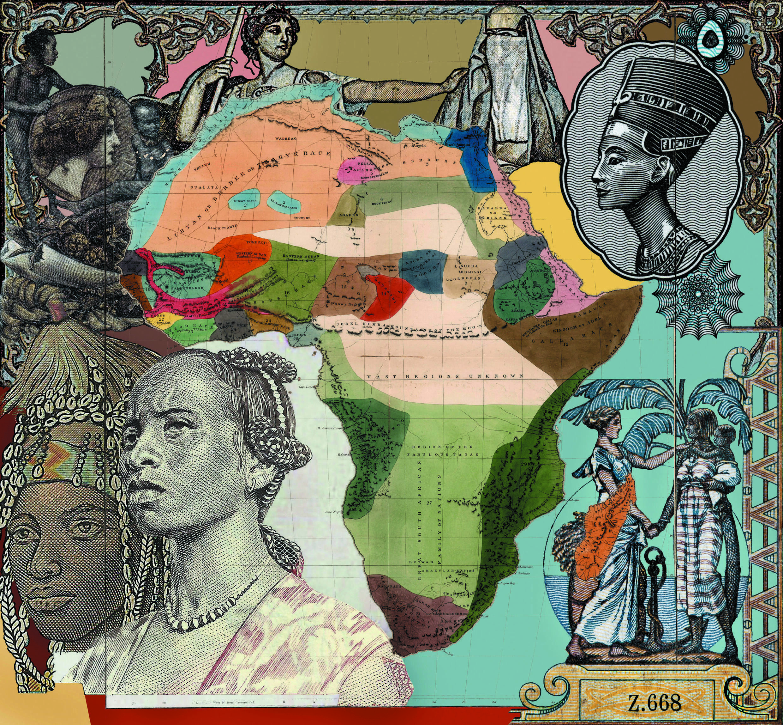 Malala Andrialavidrazana - Figures 1861, Natural History of Mankind, a digital print in pigmented ink (2016-2017), presented at the Un.e Air.e de Famille exhibition, Paul Eluard Museum, Saint-Denis, 2021.