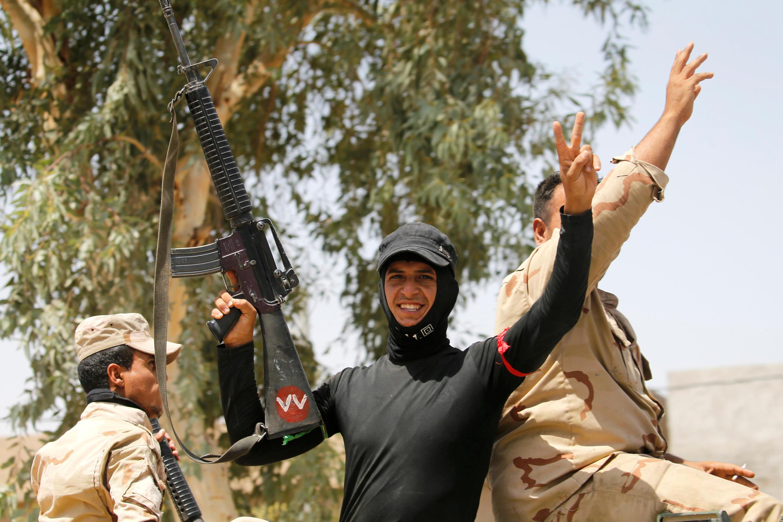 Иракские солдаты в Эль-Фаллудже, 23 июня 2016 г.